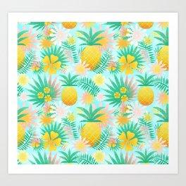 Fruits pattern Art Print