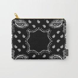 Bandana Black & White Carry-All Pouch