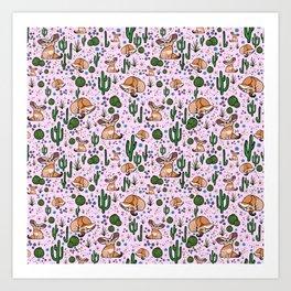Cute Fennec Fox Pattern Art Print