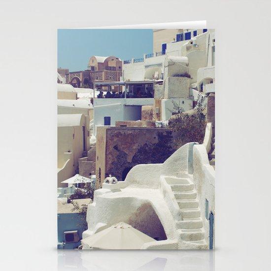 Streets of Santorini III Stationery Cards