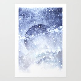 Even mountains get cold Art Print