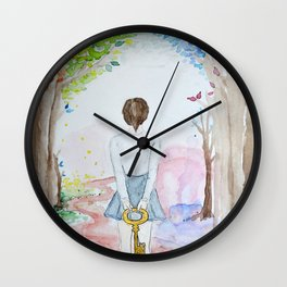 My mind holds the key Wall Clock