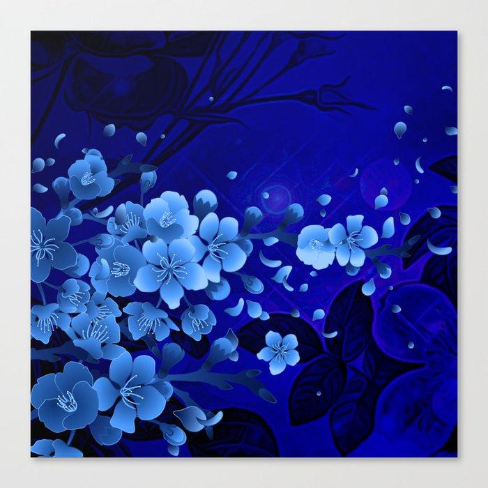 Cherry blossom, blue colors Leinwanddruck