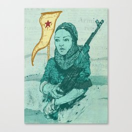 YPJ Female Syrian Army Canvas Print