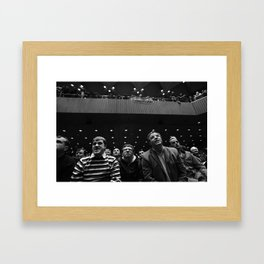 WHEN YOU'RE A MAN YOU'LL UNDERSTAND WHAT IT'S LIKE FOR US Framed Art Print