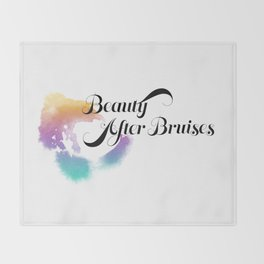 Beauty After Bruises (Black) Throw Blanket