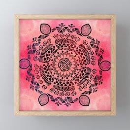 Pink Galaxy Mandala Framed Mini Art Print