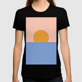 Minimalist Ocean Sunset T-shirt