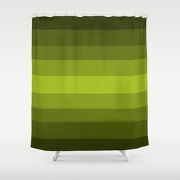 Dark Green Pear - Color Therapy Shower Curtain