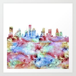 Houston Skyline Texas Art Print