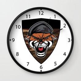Puma Head military emblem Wall Clock