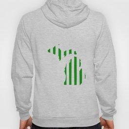 Green and White Michigan Hoody