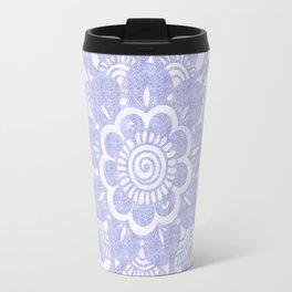Lavander Lila Mandala Travel Mug