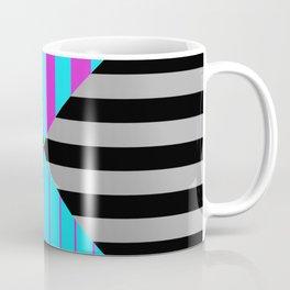 Stripes Quadrant - Purple, blue, black and grey stripes pattern Coffee Mug