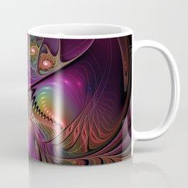 Colorful Lights, Abstract Fractal Art Coffee Mug