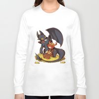 how to train your dragon Long Sleeve T-shirts featuring How to Train your dragon! by SweetOwls