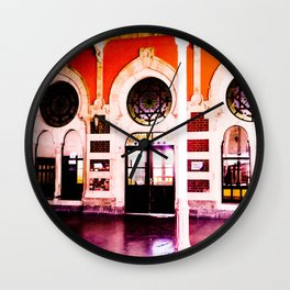 Beautiful station. Wall Clock