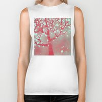 blossom Biker Tanks featuring Blossom by Nic Squirrell