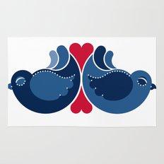 Blue Lovebirds Rug