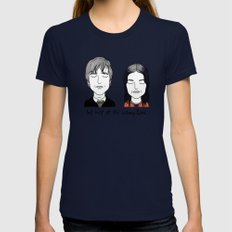 J & C SMALL Navy Womens Fitted Tee