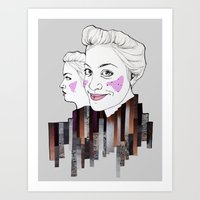 sisters Art Prints featuring sisters by Alexandra Boman