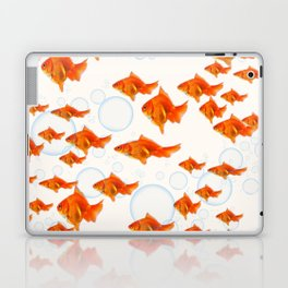 ABSTRACT GOLD FISH SWIMMING ART  DESIGN Laptop & iPad Skin