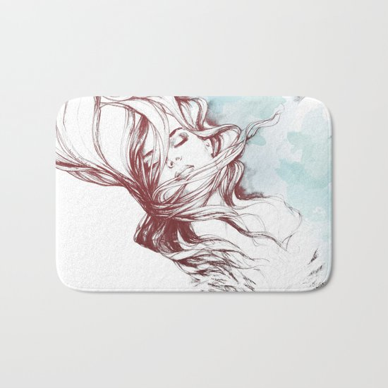 Dreaming about wolves Bath Mat