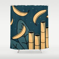 jungle Shower Curtains featuring Jungle by Animaux Circus