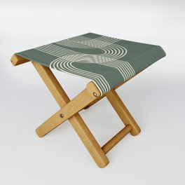 Minimalist Lines in Forest Green Folding Stool