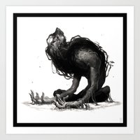 sloth Art Prints featuring Sloth by Victor Maury