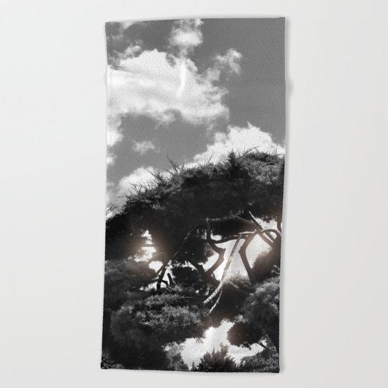 B&W Tree Beach Towel