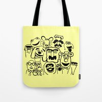 muppet Tote Bags featuring Muppet line by BlackBlizzard