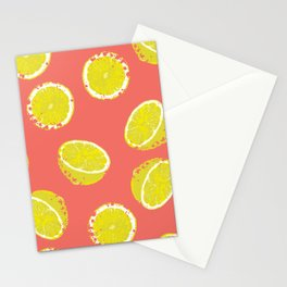 Lemon Textured Stationery Cards