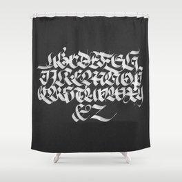 Gothic Calligraphy Alphabet (I) Shower Curtain