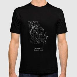 Georgia State Road Map T-shirt