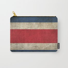 Old and Worn Distressed Vintage Flag of Costa Rica Carry-All Pouch