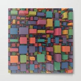 Random Cubes Metal Print