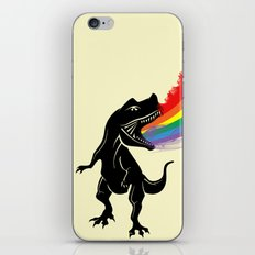 dinosaur rainbow iPhone & iPod Skin