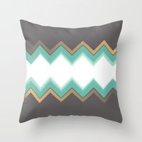 chic Throw Pillows featuring Chic by Katayoon Photography