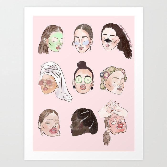 Spa Day Art Print