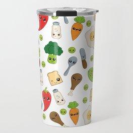 Cute Kawaii Food Pattern Travel Mug