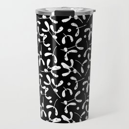 Rustic Mistletoe B-W Travel Mug