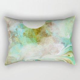 Wicked Wave in Aqua Rectangular Pillow