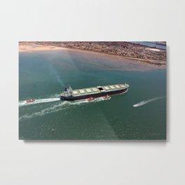 Ore Ship to Port Metal Print
