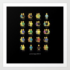Premier League 2015/16 - Goalkeepers Art Print