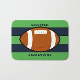 Seahawks Fans, Seattle Football Bath Mat