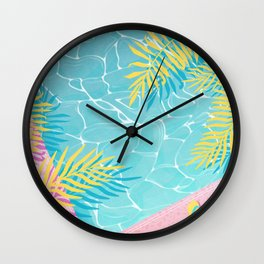 Tropical pool chill Wall Clock