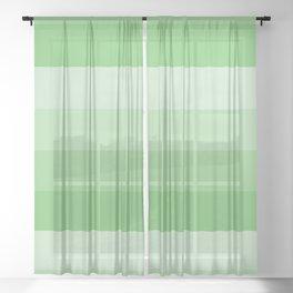 Four Shades of Green Sheer Curtain