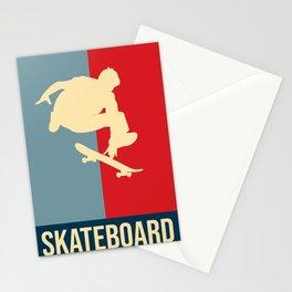 Skateboard Retro Vintage Design Stationery Cards