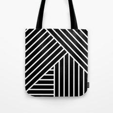 White stripes Tote Bag